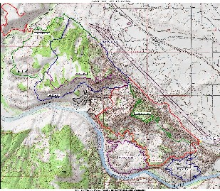 Loma area trail map