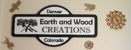 Earth and Wood Creations sign