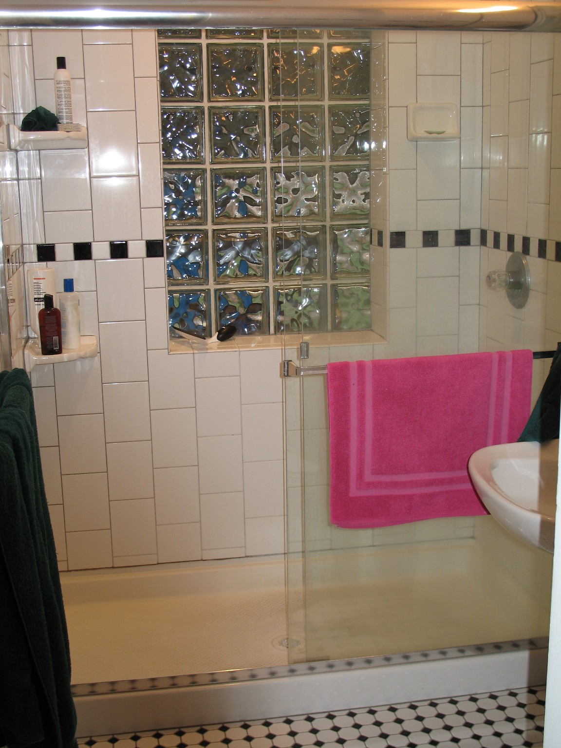 Good Przybylo With Glass Block Window In Shower.