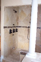 Jones master bathroom tile