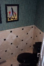 Rapaport powder room tile