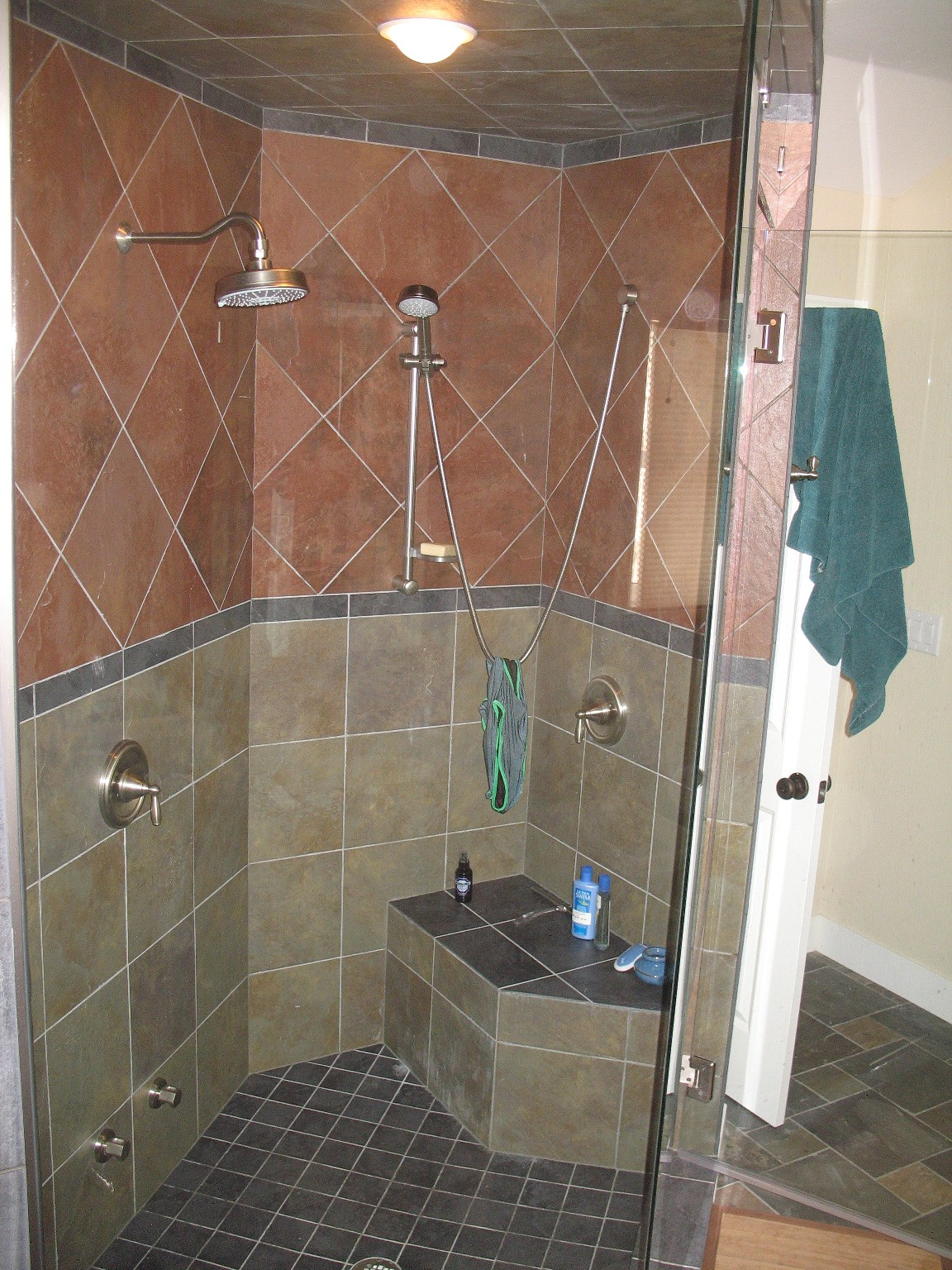 Tile work in bathrooms - Williams Master Bathroom Tile