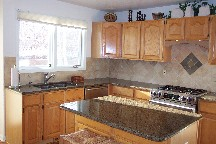 Wood kitchen backsplash tile