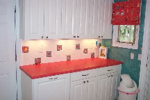 Rapaport laundry room backsplash tile