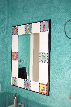 Rapaport tile-bordered mirror